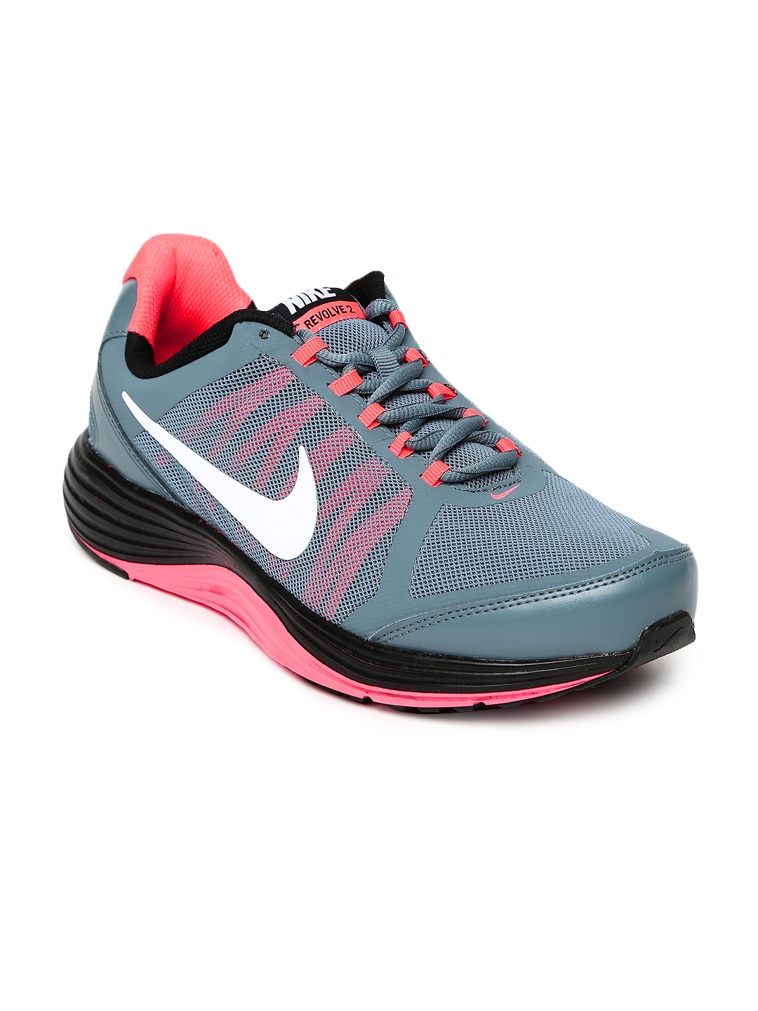 myntra nike grey revolve 2 running shoes 731398 buy