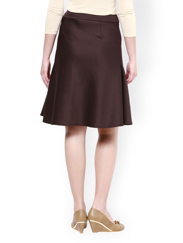 myntra kaaryah brown a line skirt 732689 buy myntra