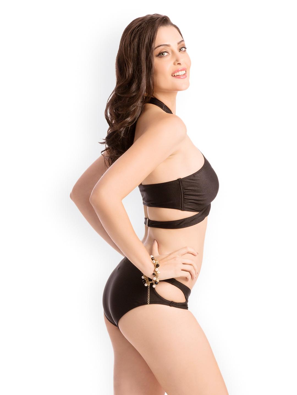 Myntra Prettysecrets Women Black Bikini Swimwear 733239