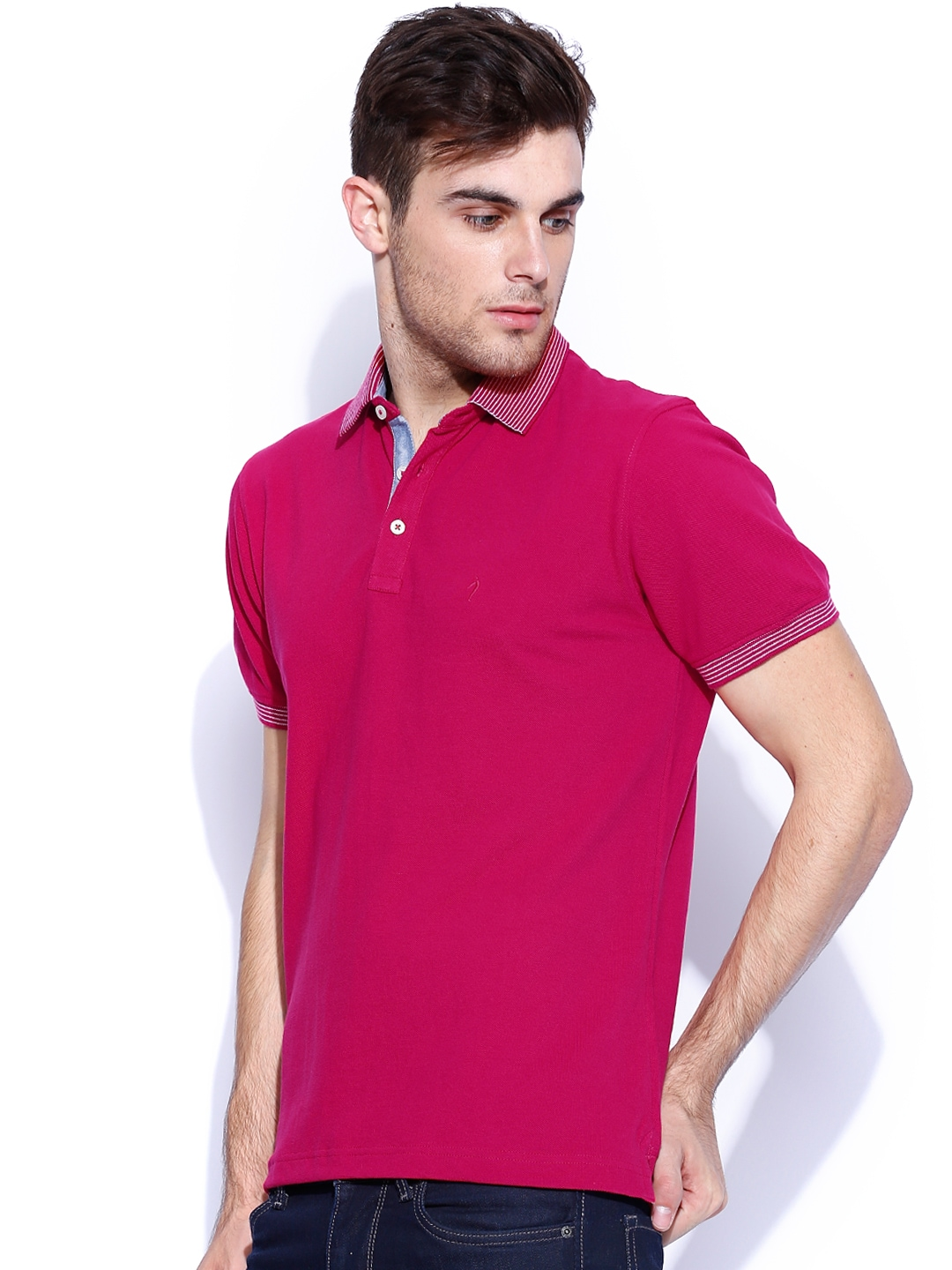 Myntra indian terrain pink polo t shirt 740113 buy for Polo t shirts india