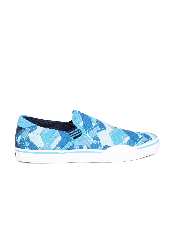 myntra adidas originals blue gonz slip printed casual