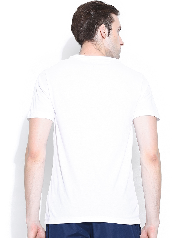 Myntra adidas originals men white printed aqua stamp t for Stamp t shirt printing