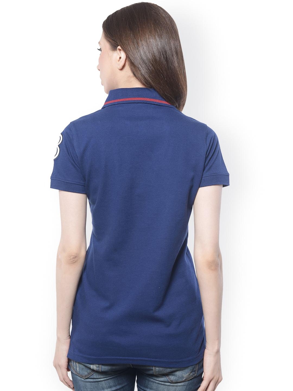 Myntra Meira Women Navy Polo T Shirt 744108 Buy Myntra
