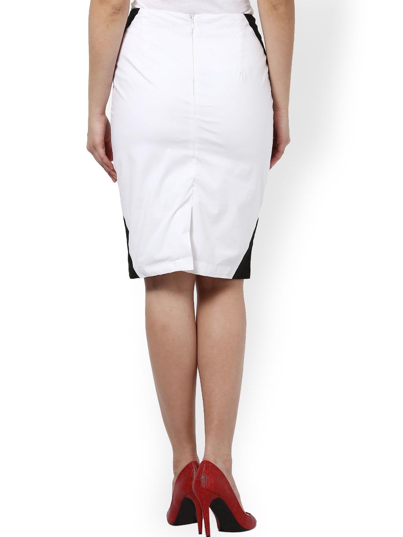 myntra kaaryah white pencil skirt 744153 buy myntra