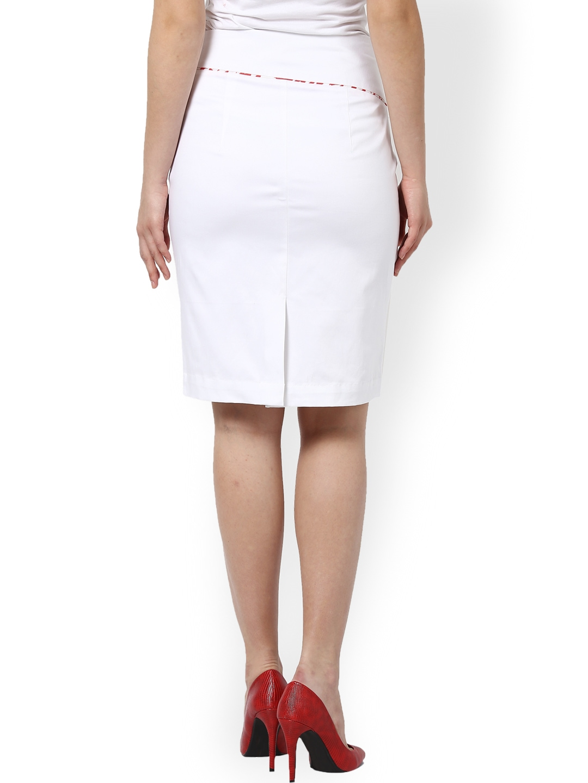 myntra kaaryah white pencil skirt 744157 buy myntra