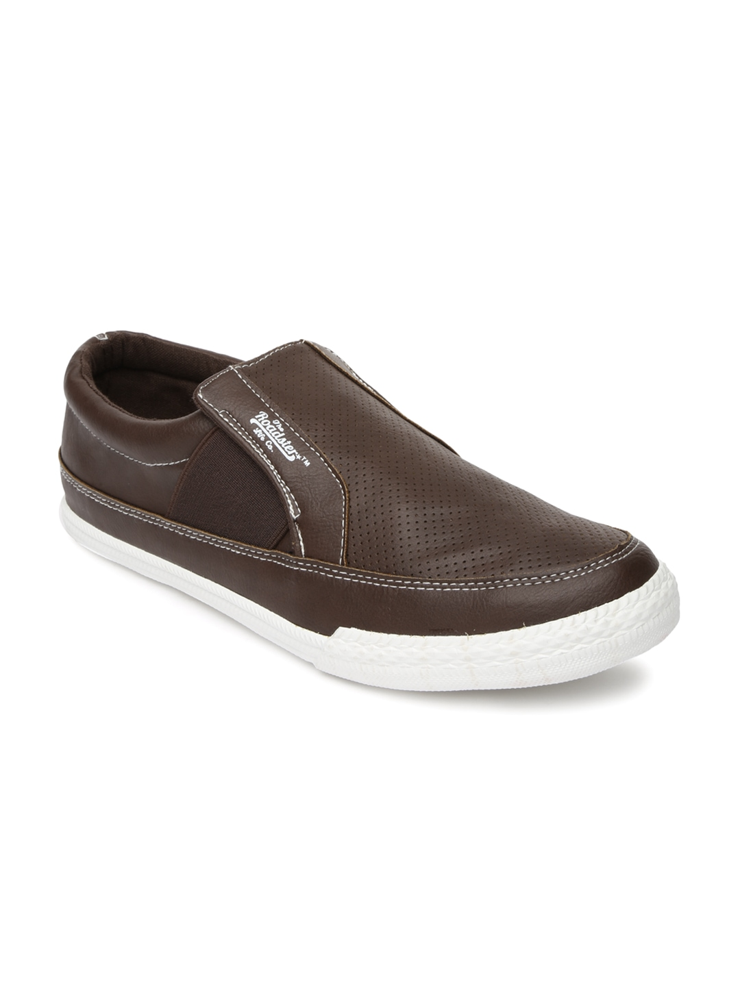 myntra roadster brown casual shoes 744622 buy myntra