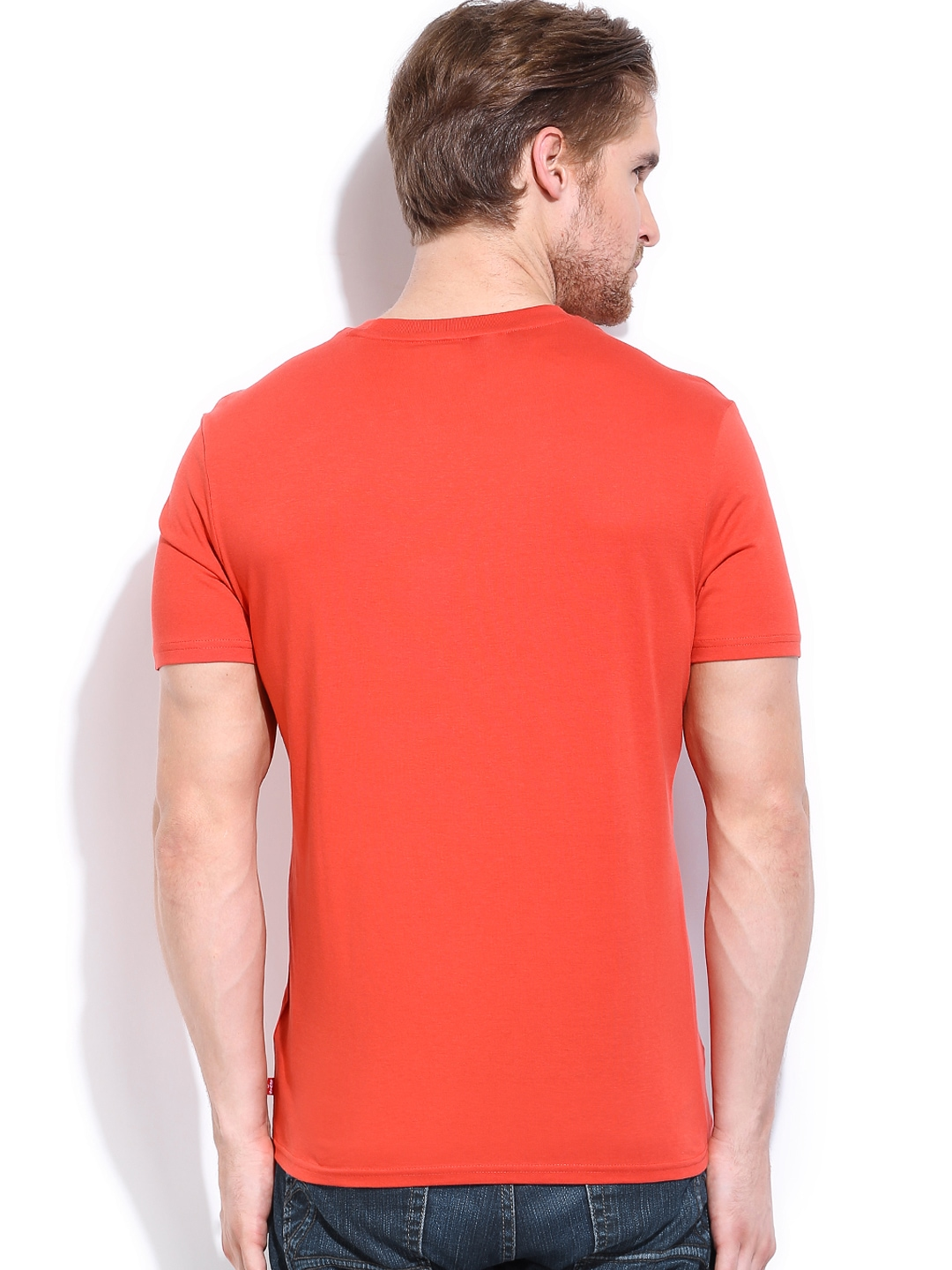 Myntra Levis Men Coral Red Printed T Shirt 745739 Buy