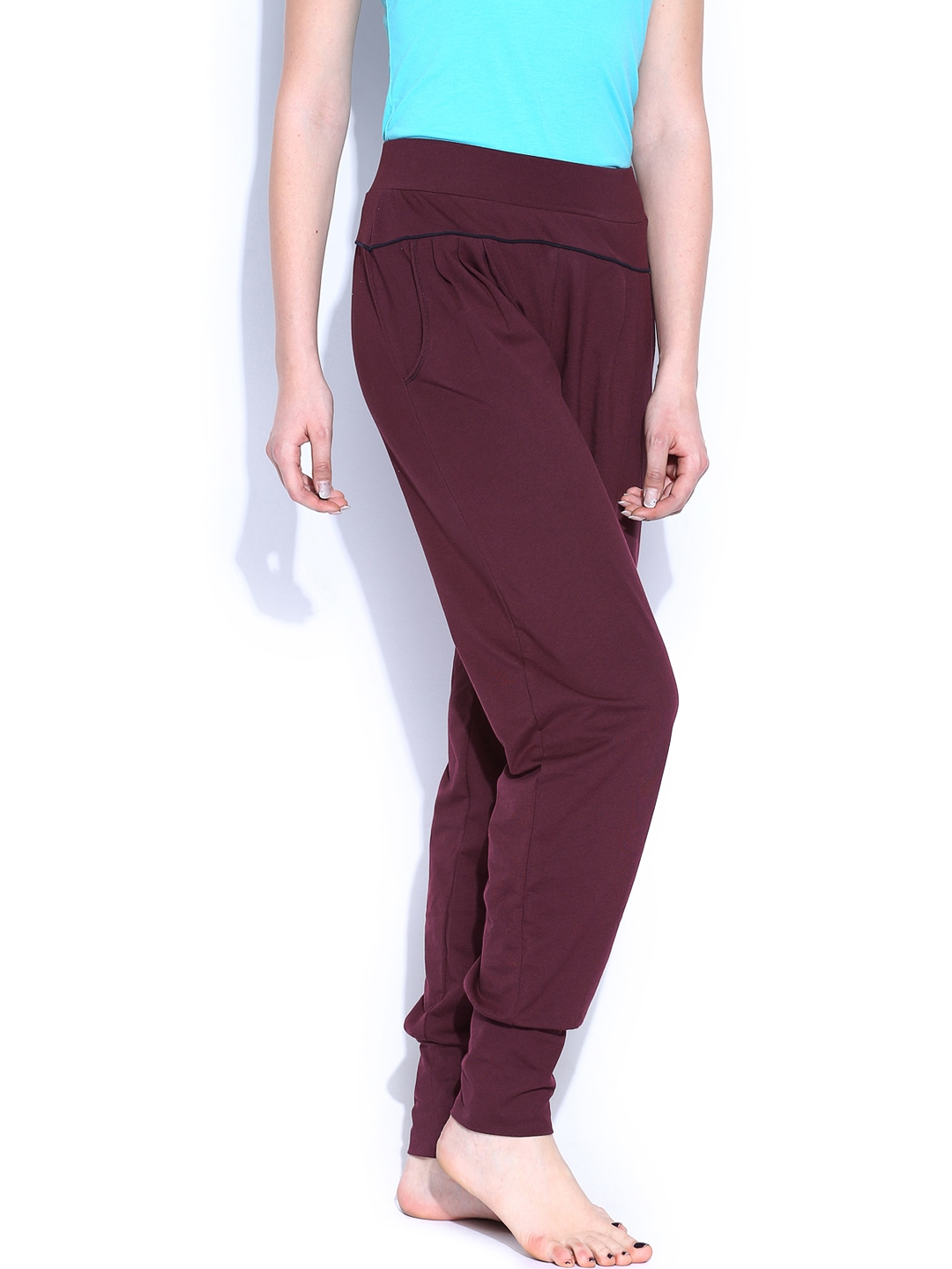 Perfect  Womens Slim Skinny Stretch Cords Burgundy Red Corduroy Trousers Jeans