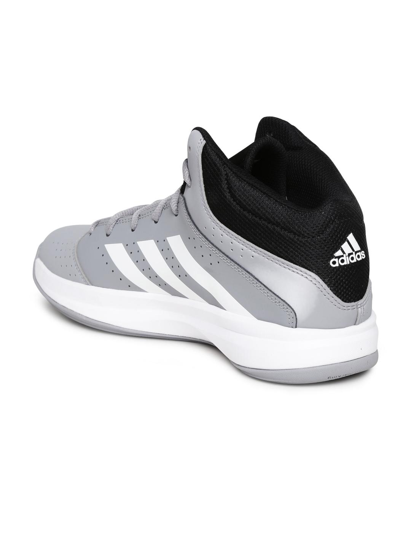 Adidas Isolation  Grey Basketball Shoes