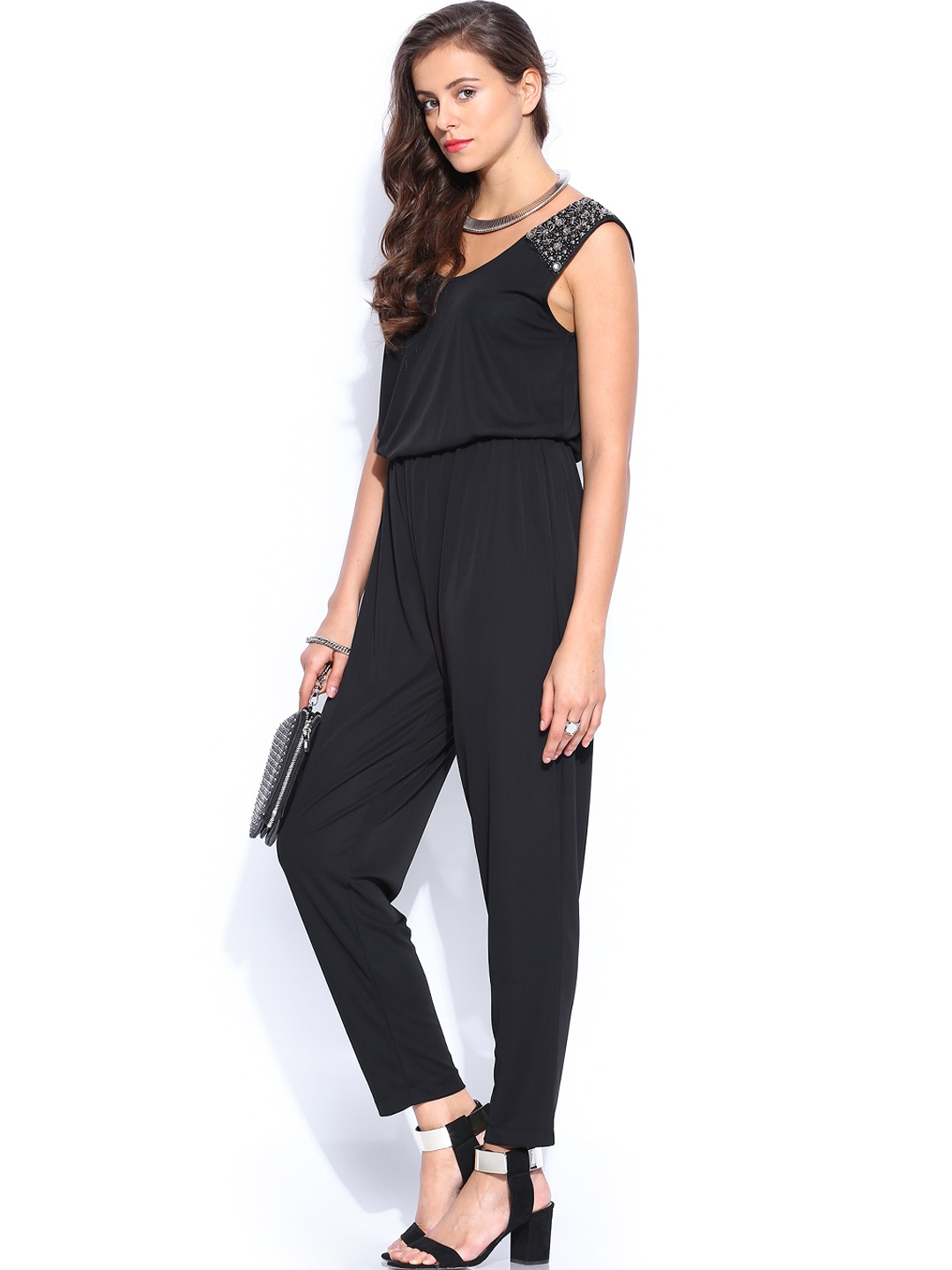 Creative MANGO Women Black Graffiti Jumpsuit 433644  Buy Myntra MANGO Jumpsuit