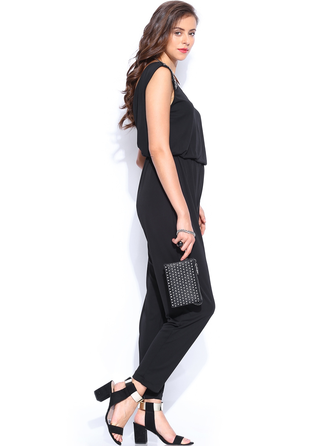 Lastest Mango Monochrome Long Jumpsuit In Black  Lyst