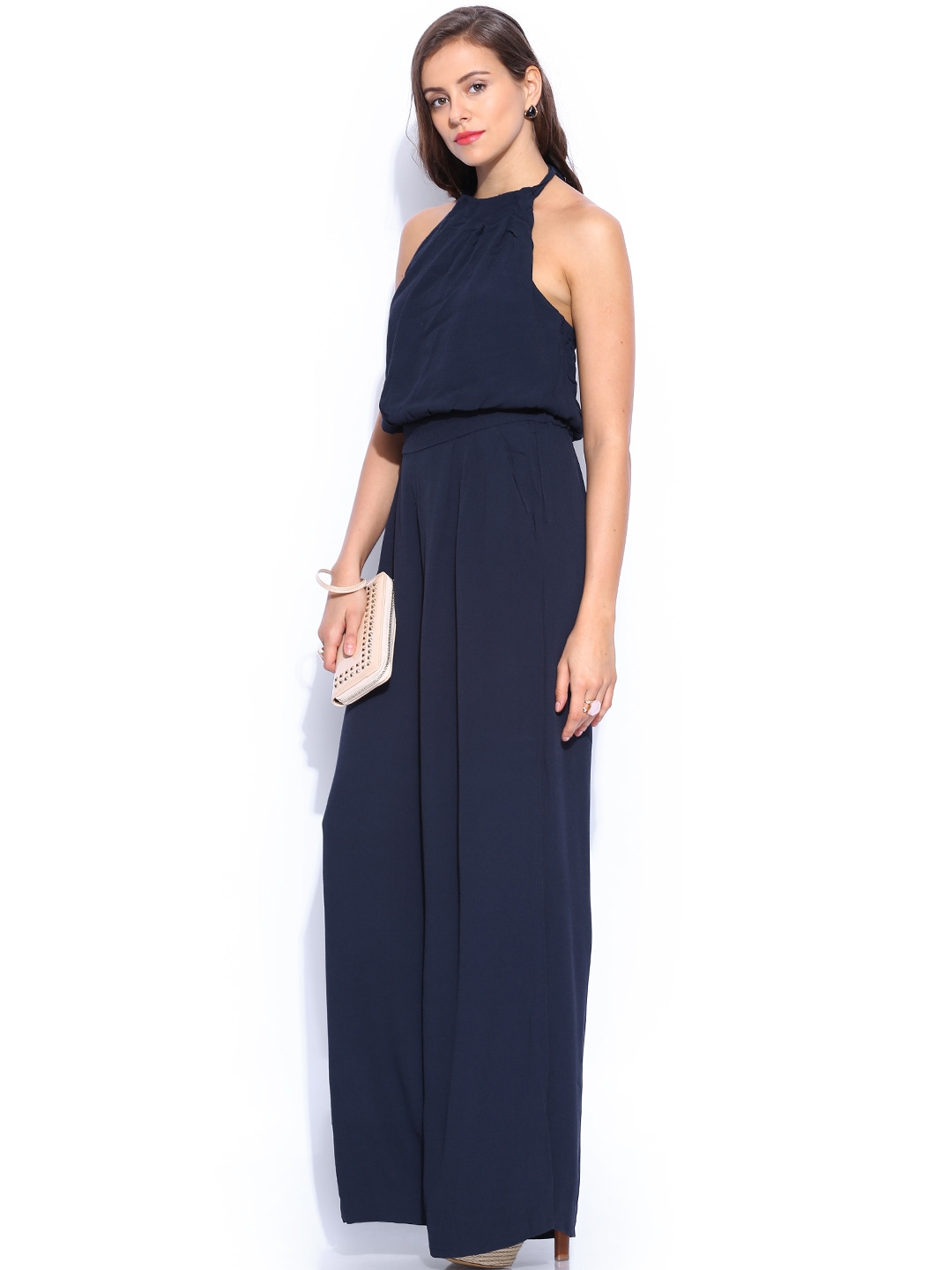 New Just Female Ballad Jumpsuit In Navy  Navy In Blue  Lyst