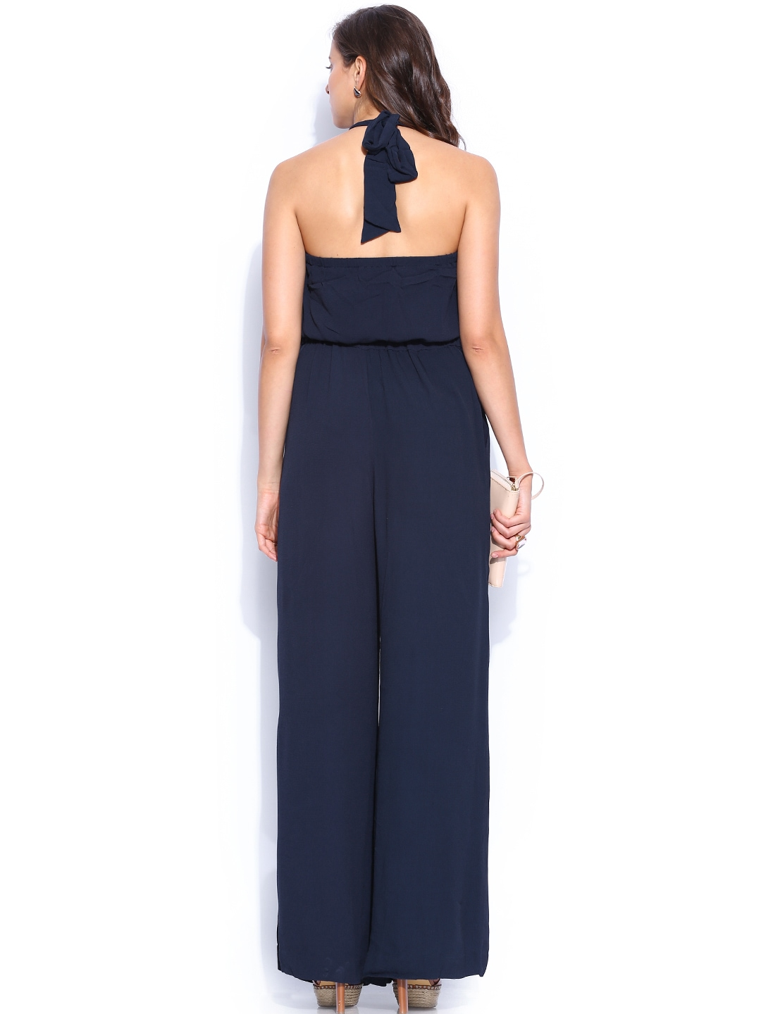 Beautiful Myntra MANGO Women Navy Jumpsuit 748395  Buy Myntra MANGO Jumpsuit At
