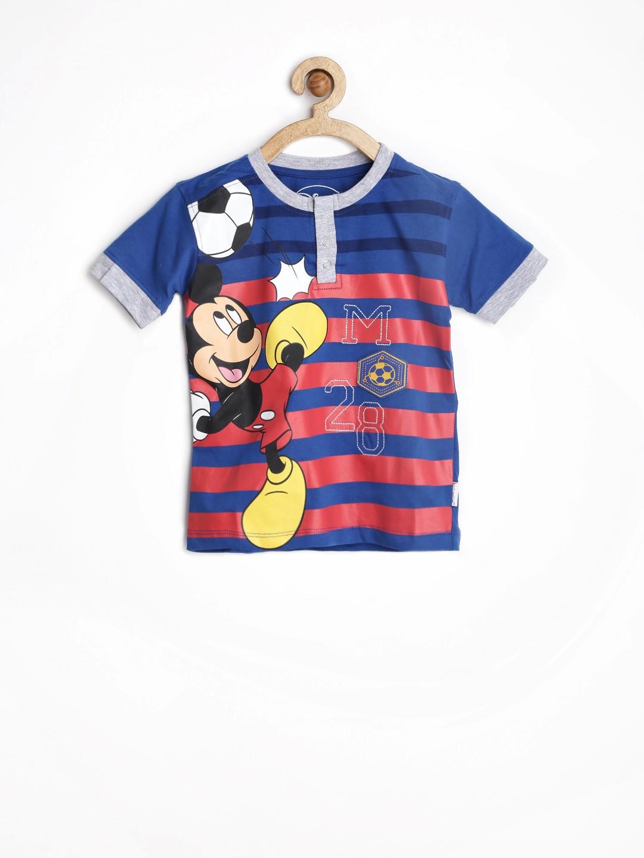 Myntra disney by kids ville boys blue printed t shirt for Boys printed t shirts