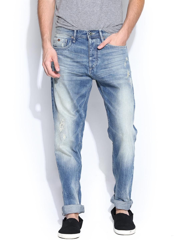 myntra jack jones men blue anti fit jeans 750673 buy. Black Bedroom Furniture Sets. Home Design Ideas