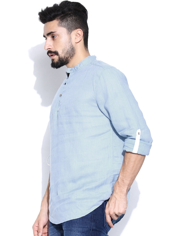 Home clothing men clothing shirts jack jones shirts for Mens light blue linen shirt