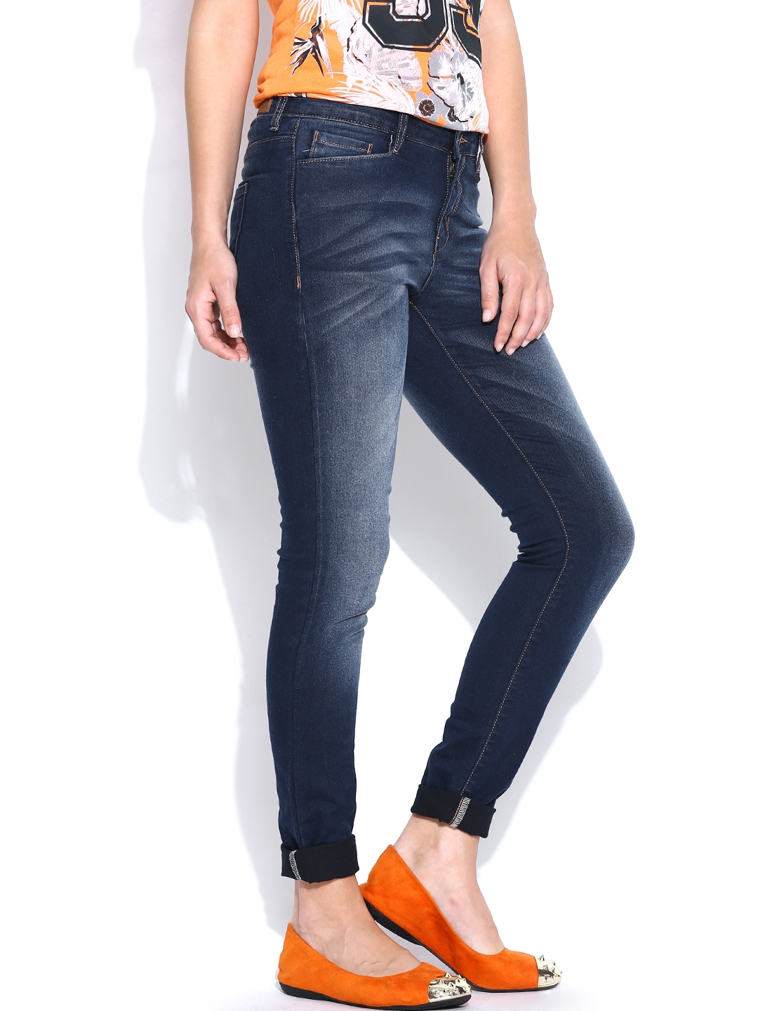 myntra vero moda women navy skinny fit jeans 751950 buy myntra vero moda jeans at best price. Black Bedroom Furniture Sets. Home Design Ideas
