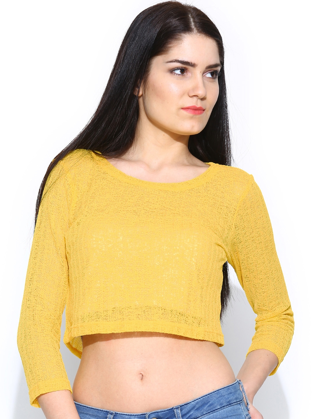 Find the latest and trendy styles of yellow crop top at ZAFUL. We are pleased you with the latest trends in high fashion yellow crop top.