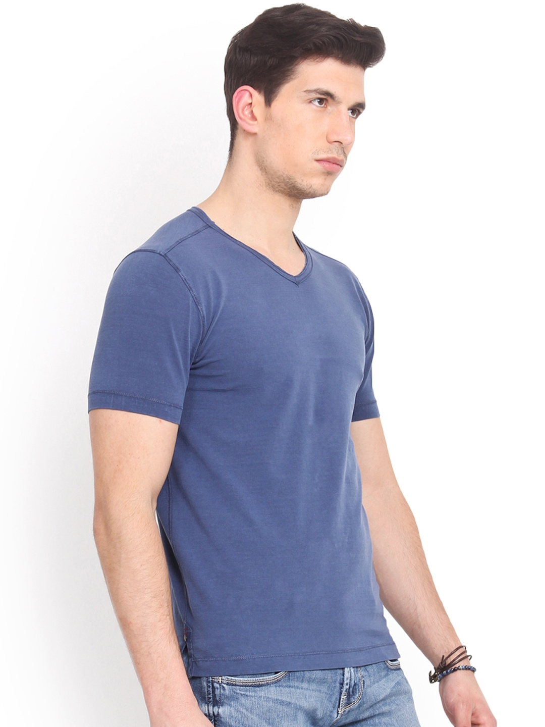Myntra smokestack men blue custom fit t shirt 752846 buy for Custom fit t shirts