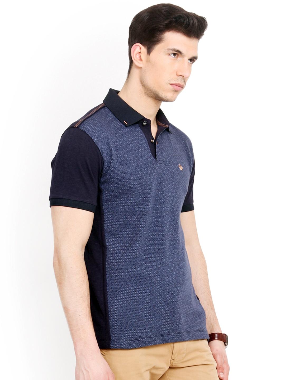 Myntra smokestack men blue custom fit polo t shirt 752878 for Polo custom fit t shirts