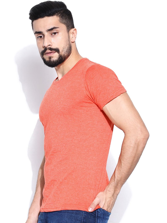 Myntra Highlander Men Coral Orange T Shirt 754559 Buy