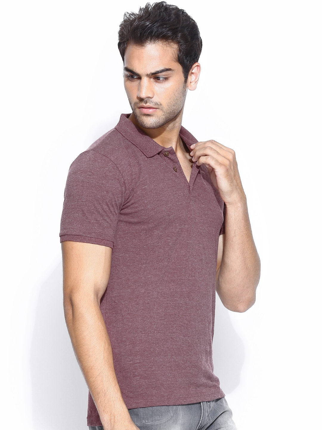 Myntra highlander men burgundy polo t shirt 754573 buy Burgundy polo shirt boys