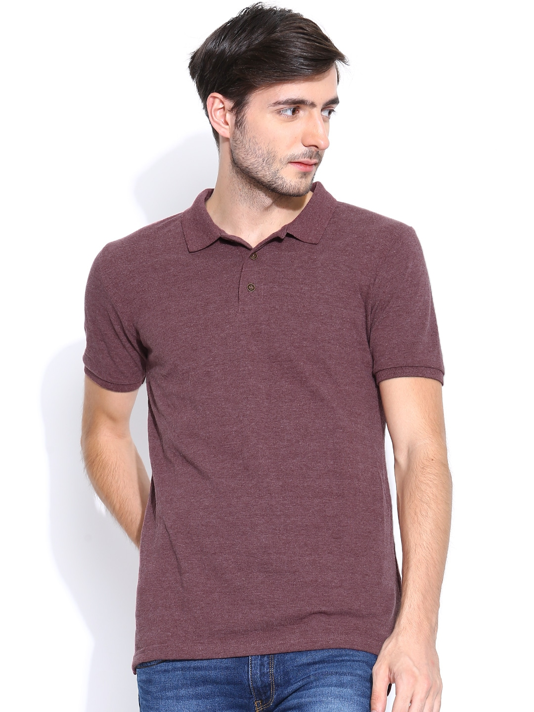 Myntra highlander men burgundy polo t shirt 754581 buy Burgundy polo shirt boys