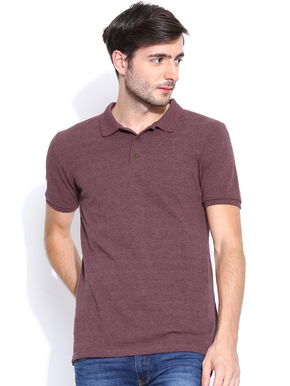 Myntra Highlander Men Burgundy Polo T Shirt 754581 Buy: burgundy polo shirt boys