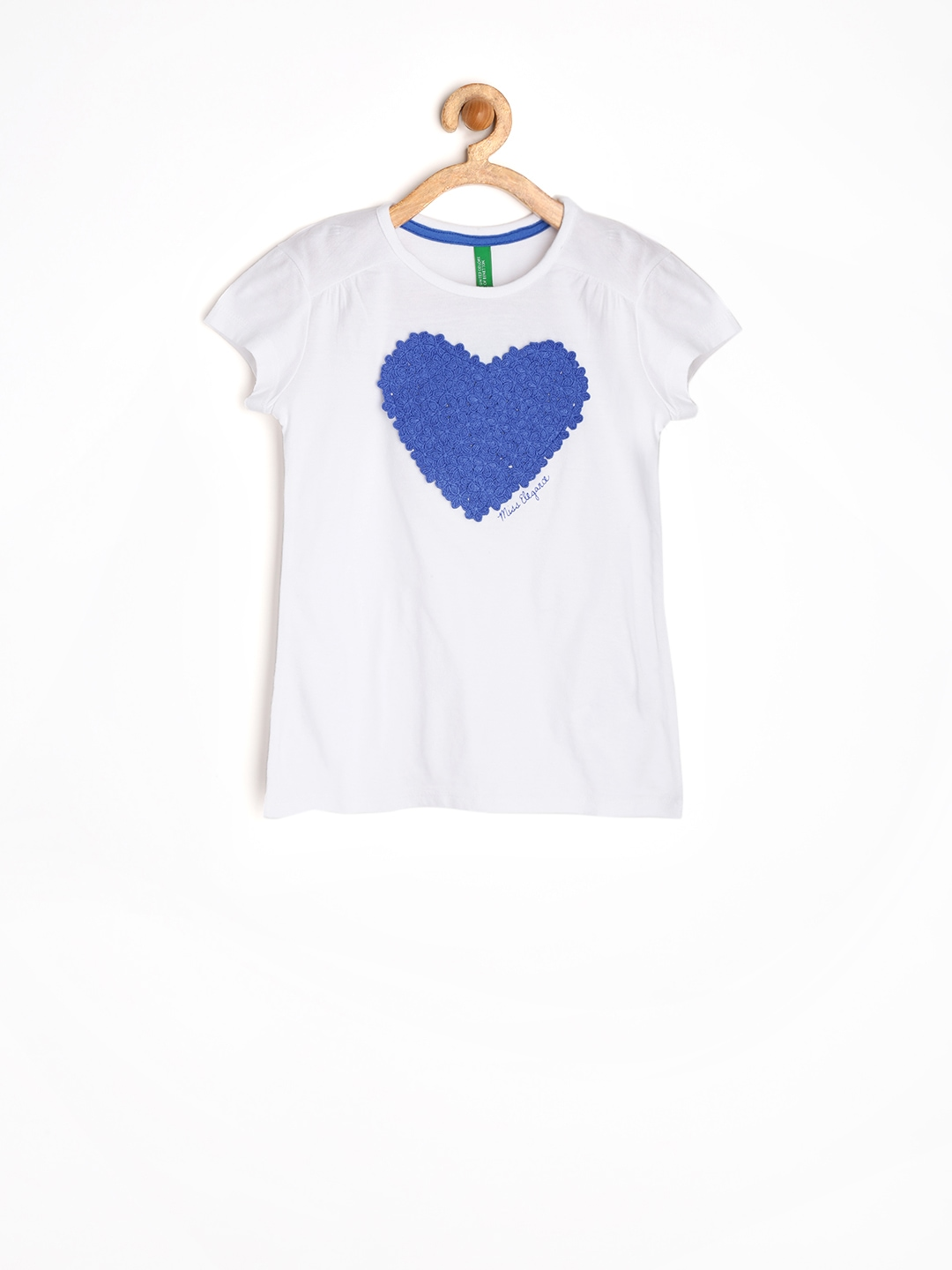 Myntra united colors of benetton girls white top 756106 for Shop online benetton