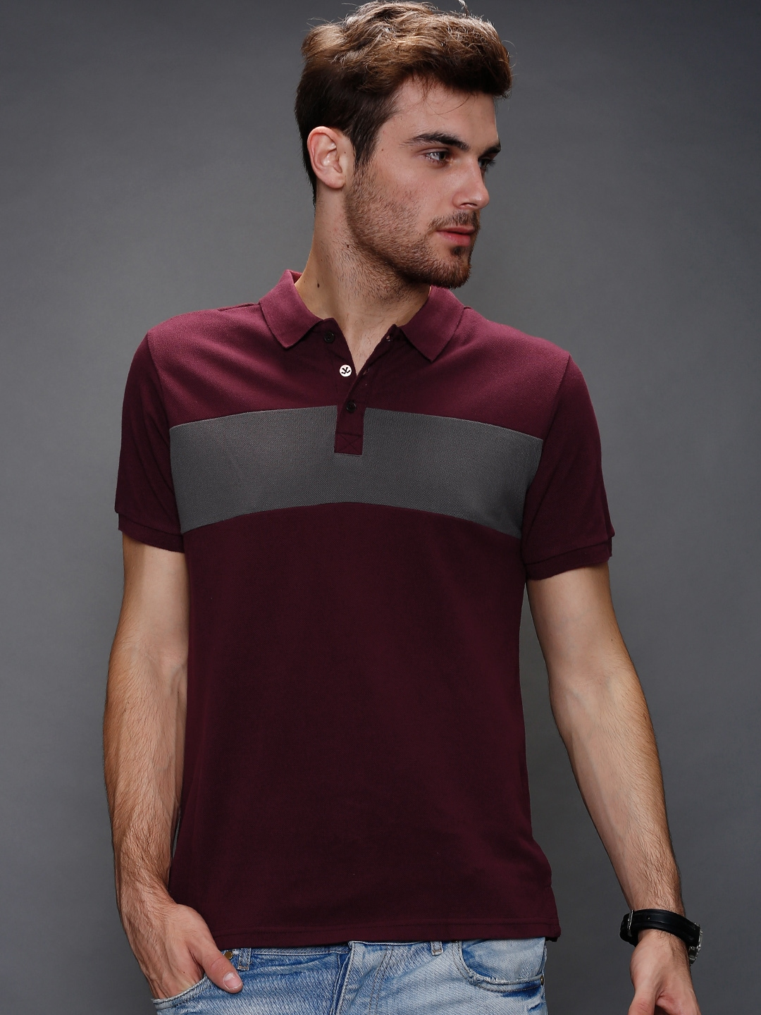 Myntra wrogn burgundy polo t shirt 756912 buy myntra Burgundy polo shirt boys