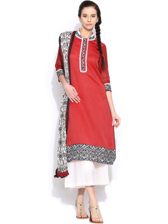Ihram Kids For Sale Dubai: Myntra BIBA Women Blue Silk Salwar Kurta With Dupatta