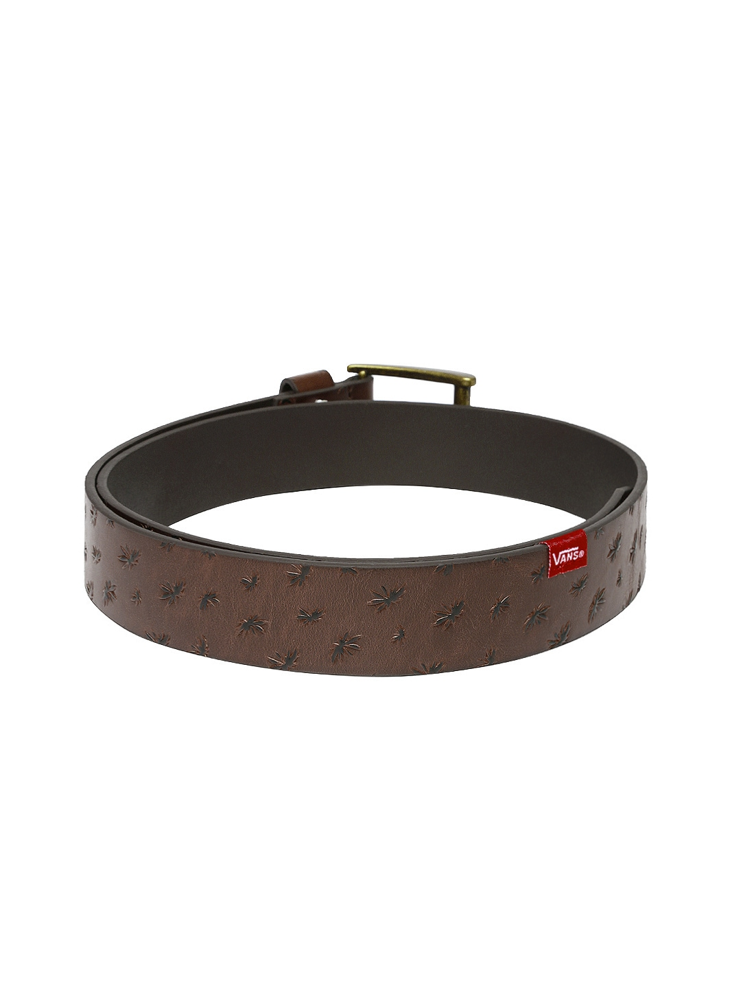 myntra vans brown leather belt 758809 buy myntra