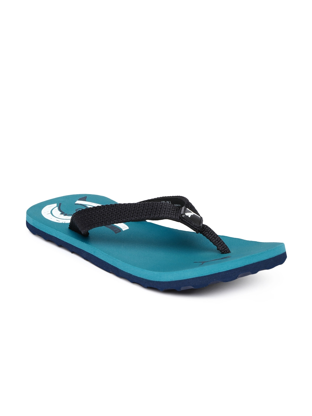 myntra puma kids black blue wave jr dp printed flip flops 759204 buy myntra puma flip flops. Black Bedroom Furniture Sets. Home Design Ideas