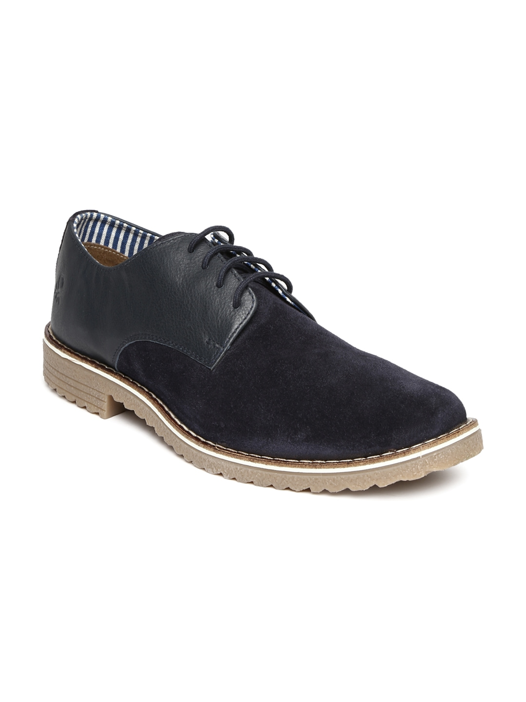 myntra united colors of benetton navy casual shoes