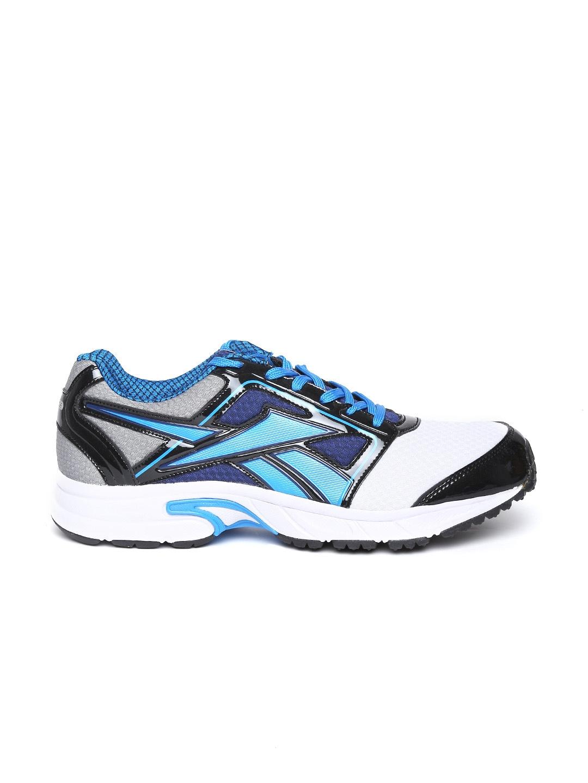myntra reebok white blue speed sports lp running
