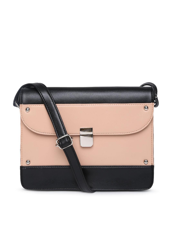 Buy DressBerry Black & Dusty Pink Sling Bag - Handbags for Women ...