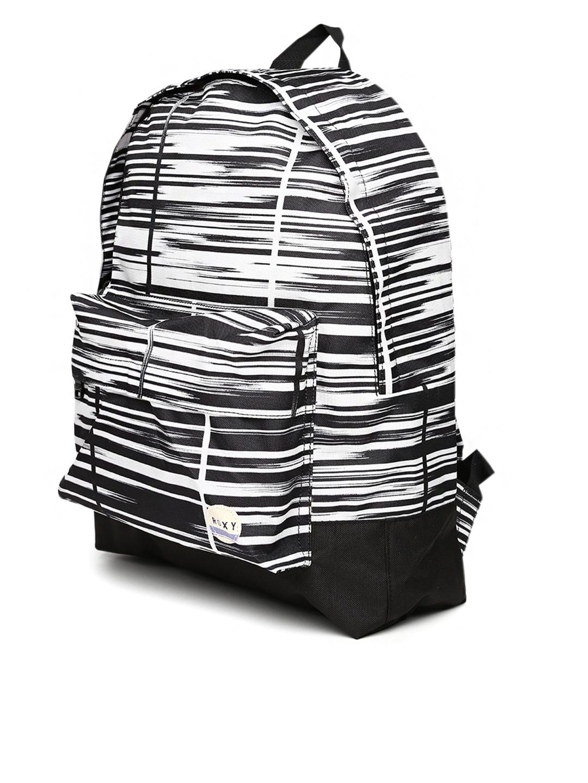 Myntra Roxy Women White & Black Printed Backpack 766011 ...