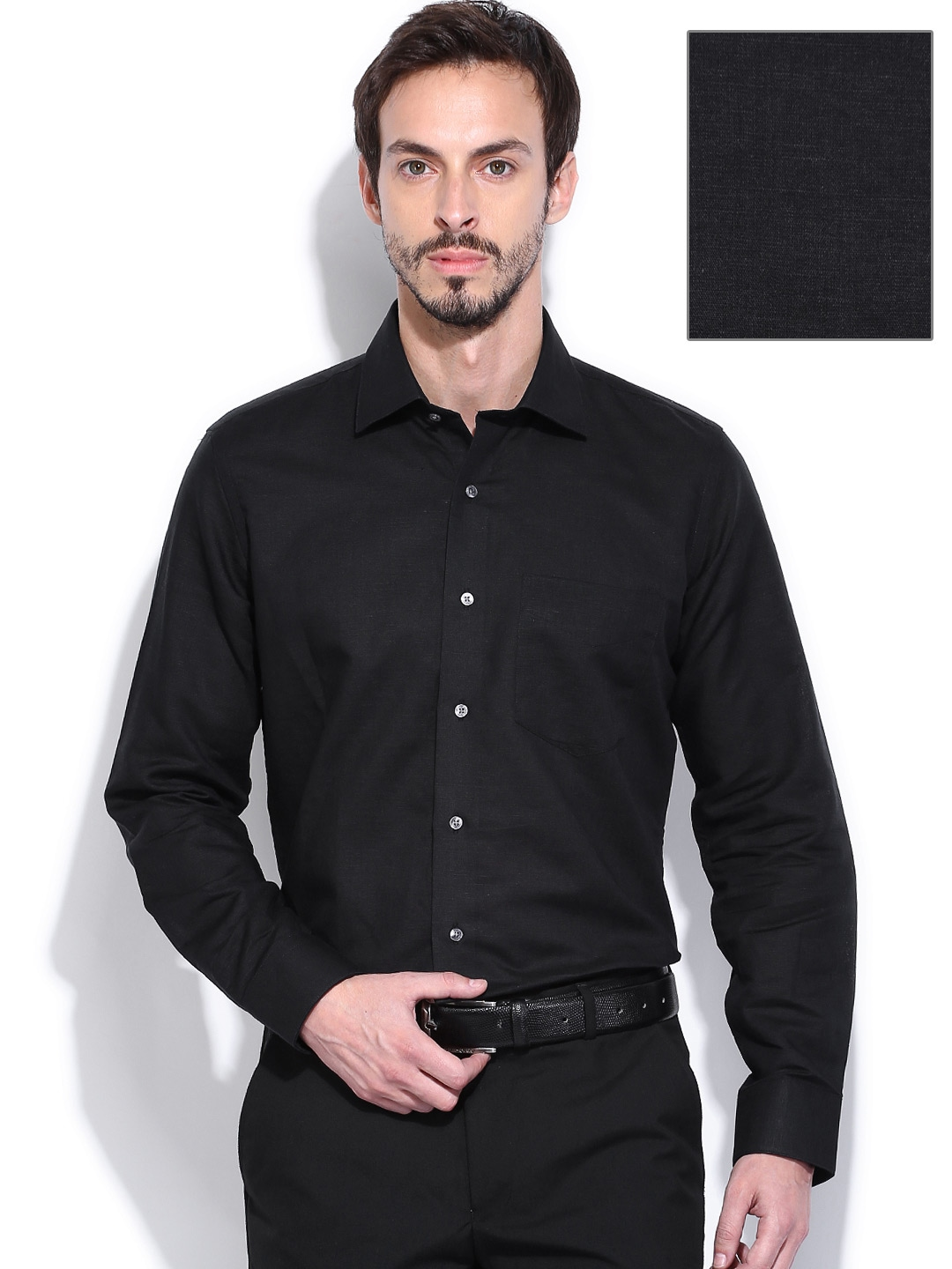 Formal black shirt is shirt for Black tuxedo shirt for men
