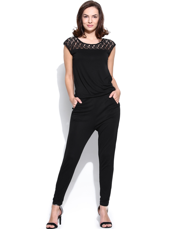 Myntra united colors of benetton women black jumpsuit for Shop online benetton