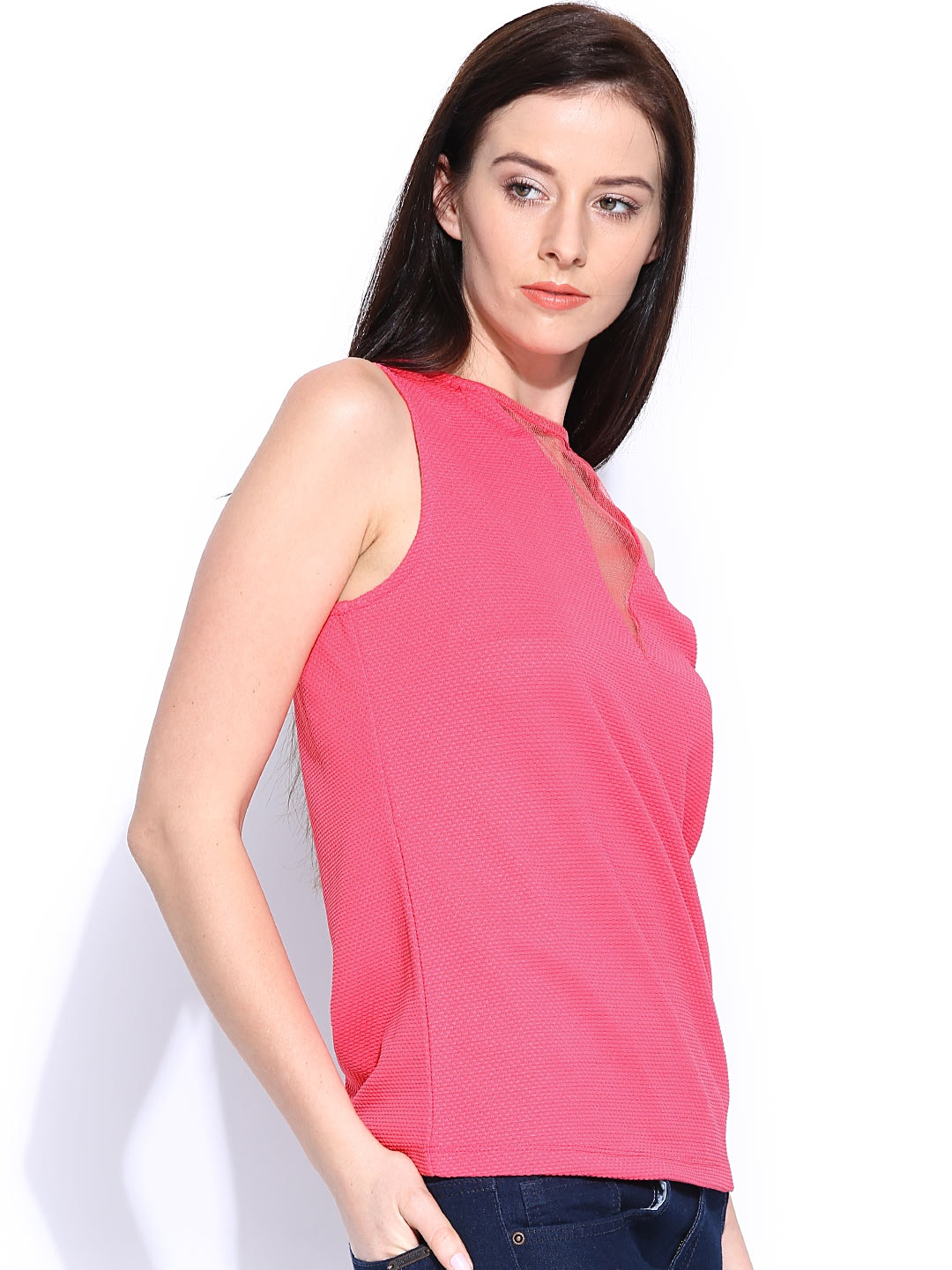 Myntra united colors of benetton women pink top 767874 for Shop online benetton