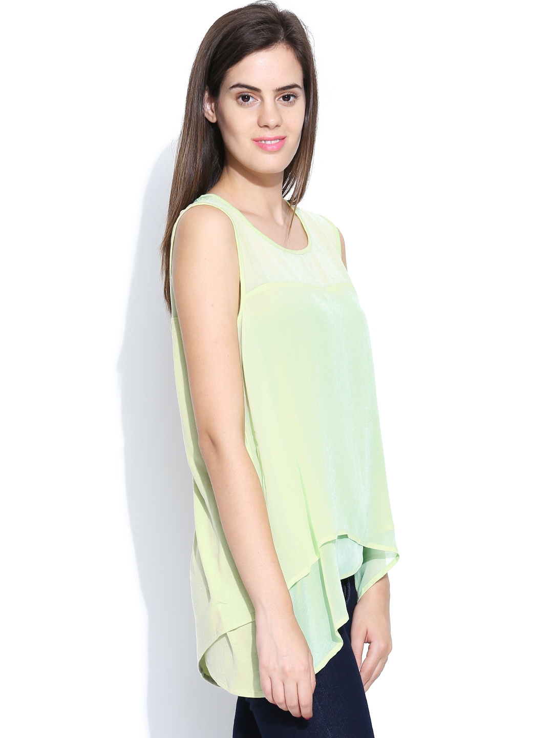 Myntra united colors of benetton women yellow top 767877 for Shop online benetton
