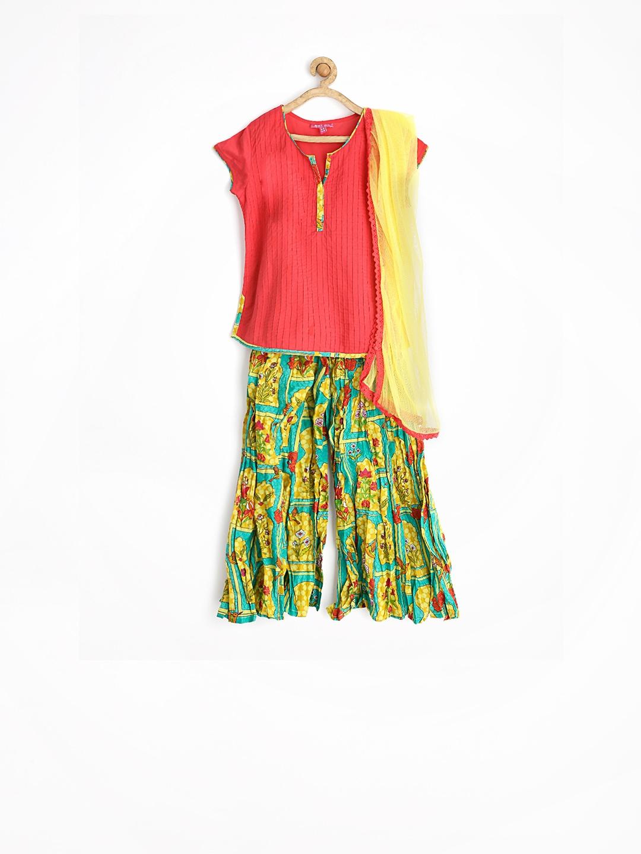 Ihram Kids For Sale Dubai: Myntra BIBA Girls Mughal Chintz Multicoloured Kurta With