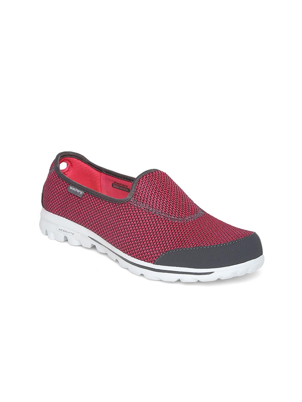 myntra skechers pink go rival walking shoes 770420