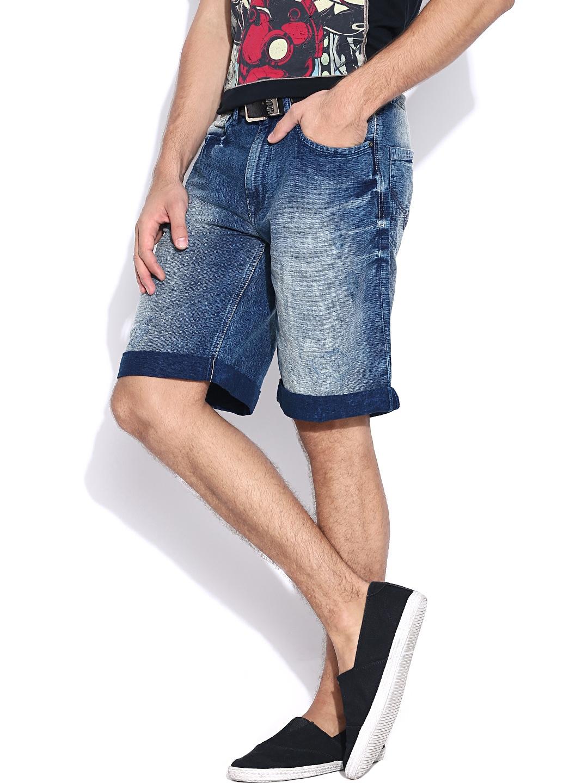Myntra Pepe Jeans Men Blue Denim Shorts 771425