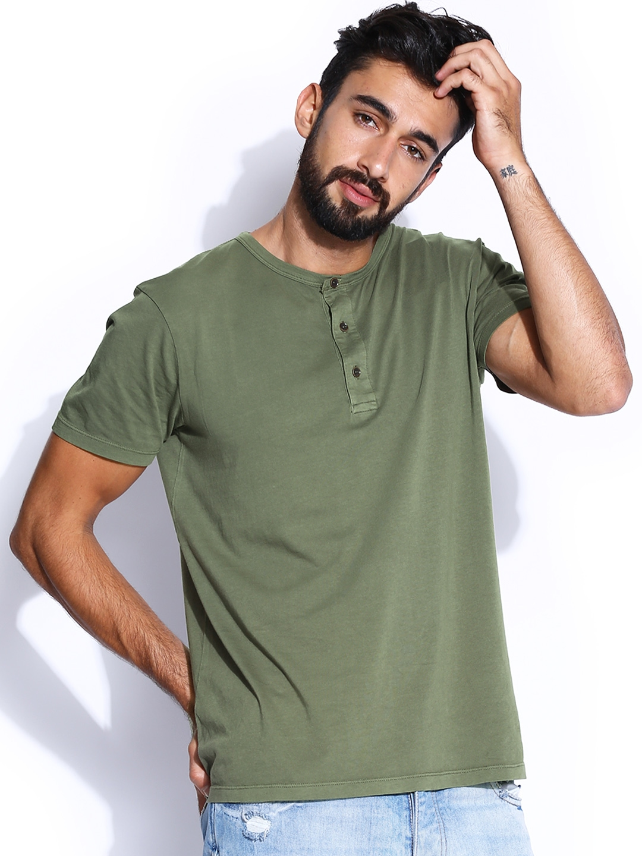 Mens Henley Shirts Long Sleeve