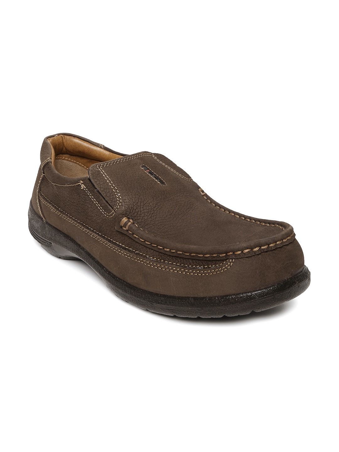 myntra bata brown leather casual shoes 775527