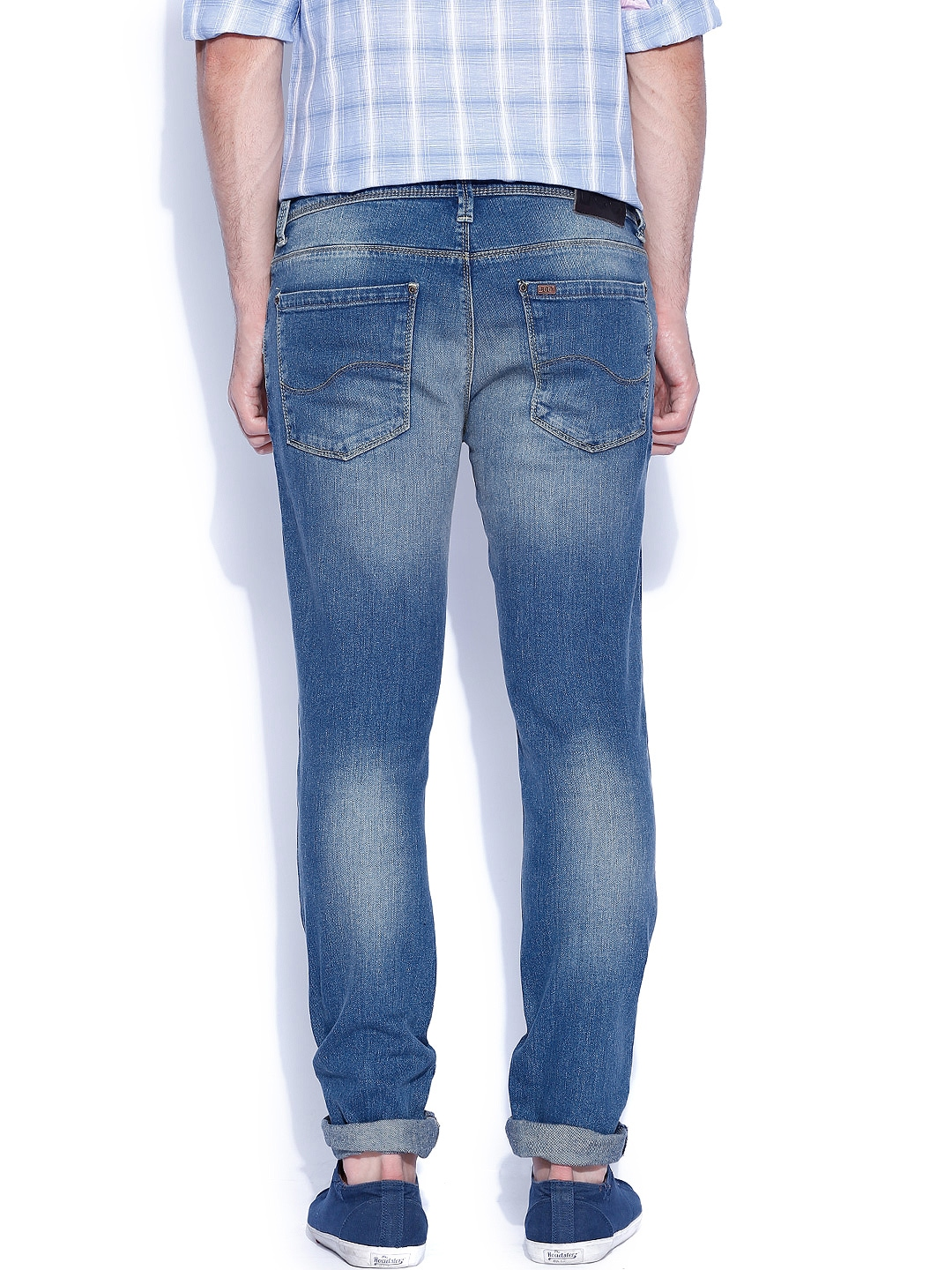 Myntra Lee Blue Low Br...