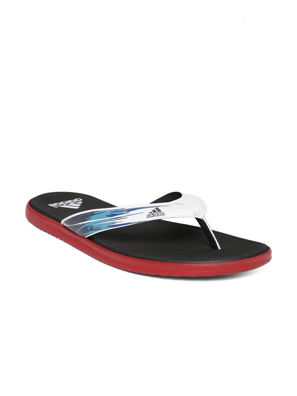 myntra adidas men white black sc beach flip flops 783753. Black Bedroom Furniture Sets. Home Design Ideas