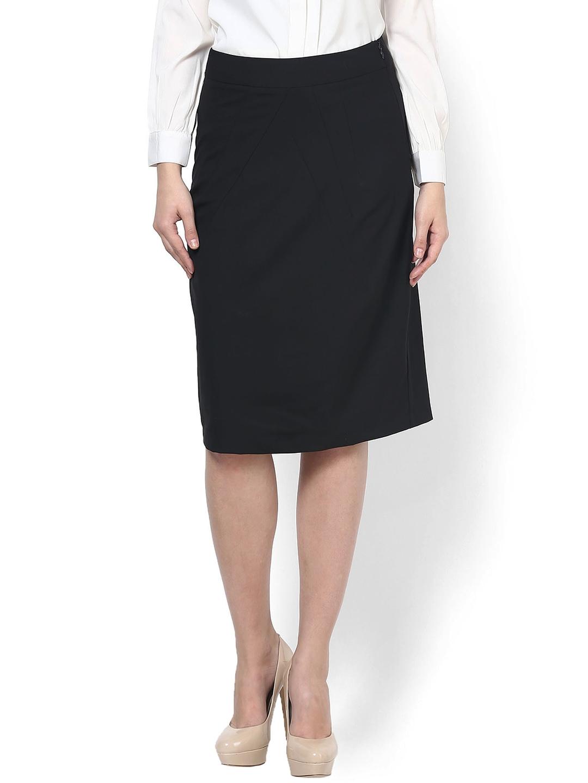 myntra kaaryah black pencil skirt 785331 buy myntra