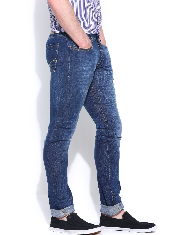 Myntra NU Eco Blue Low-Rise Slim Jeans 785823